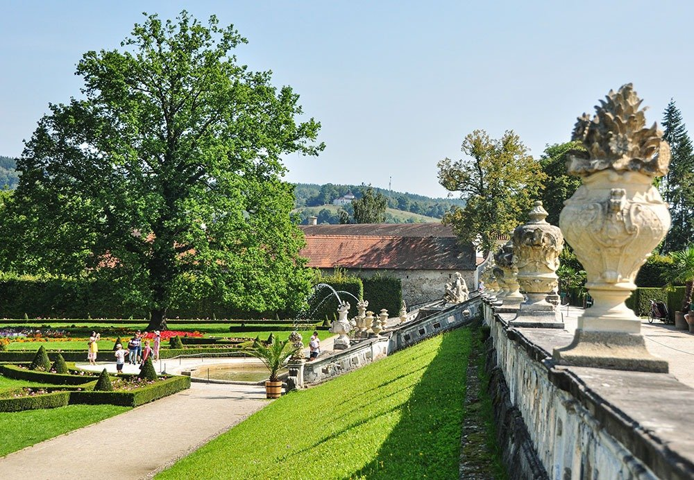 Spend some time relaxing in the Krumlov castle grounds.