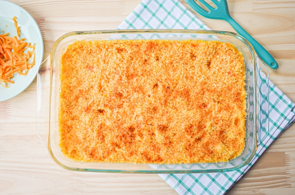 If you have a saucy, cheesy craving try these Baked Shells and Cheese with a crispy panko topping. You won't regret it!