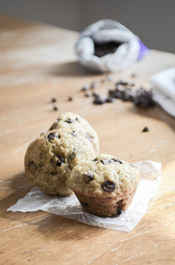 Who can resist something so small and cute? Use up your excess ripe bananas, and serve up a tiny treat that is perfect for any lunch box. Mini Banana Chocolate Chip Muffins are sure to be a family favorite.