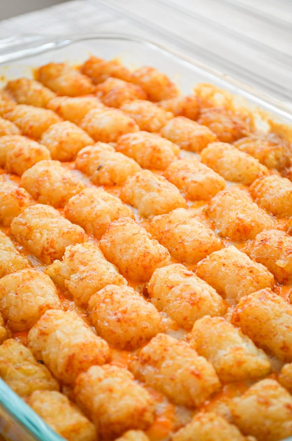 If you're looking for a great comfort food casserole that is EASY PEASY, you've found it with this Easy Dinner Recipe for Tater Tot and Ground Beef Casserole
