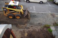 Removing the roadbase from the footpath
