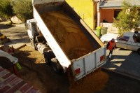 New sand to form a base for the footpath
