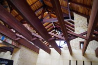 Joists in the front room viewed from underneath