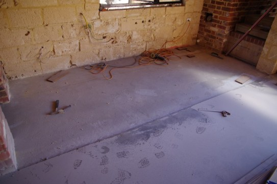 Kitchen floor preparation