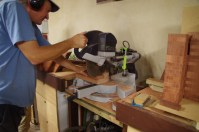 Slicing timber into 19mm thick slices