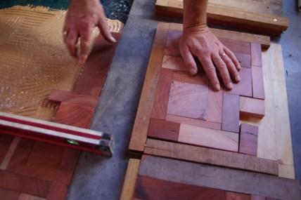 Laying timber