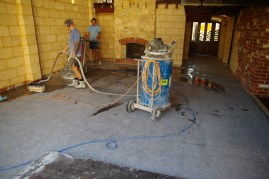 On the machines - basically a giant sander and a giant vacumn
