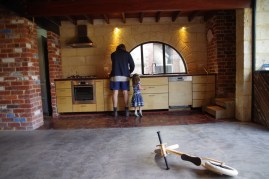 Kitchen all done, just before we got the floor polished and moved in.