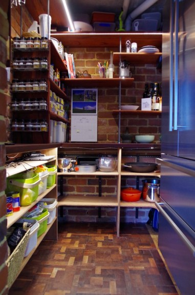 Lots of shelves at different heights means there is a space for everything