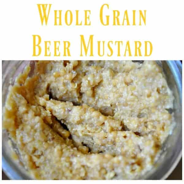 Whole Grain Beer Mustard for Food Swap