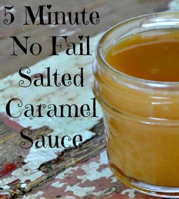 5 Minute No Fail Salted Caramel Sauce