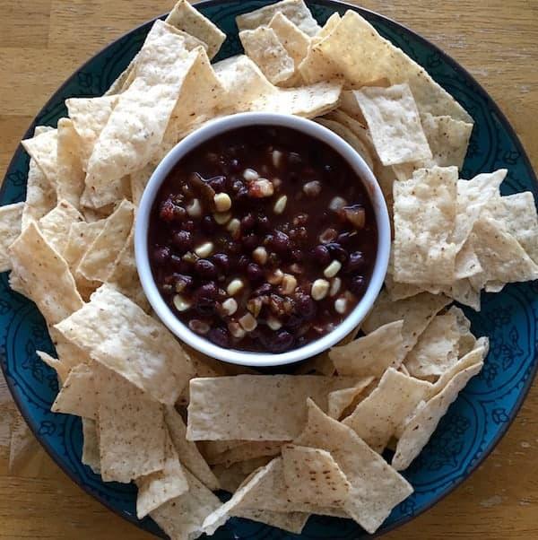 Corn and Black Bean Salsa (cheater style)
