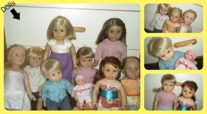 all the dolls collage