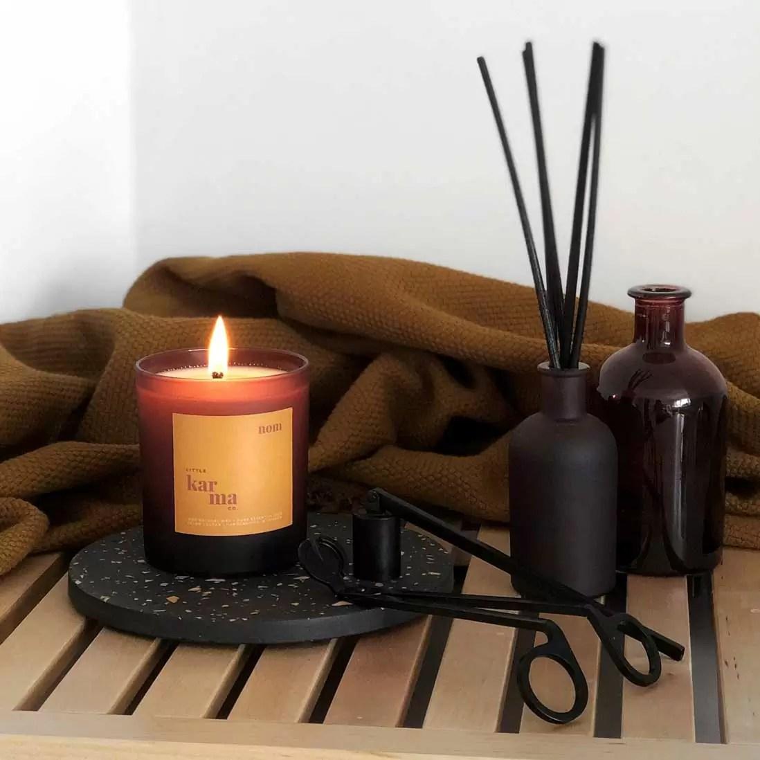 nom | uplifting lemongrass + ginger refillable large candle [220g]