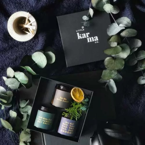 FOR DADS SET luxury scented candle gift set. Personalised father's day gifts for men