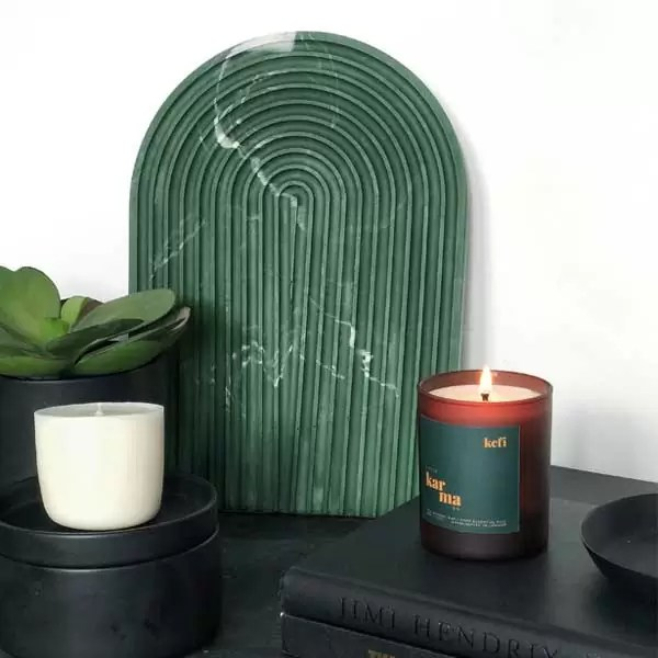 Kefi midi refillable candle. Refillable midi scented candles with pure essential oils