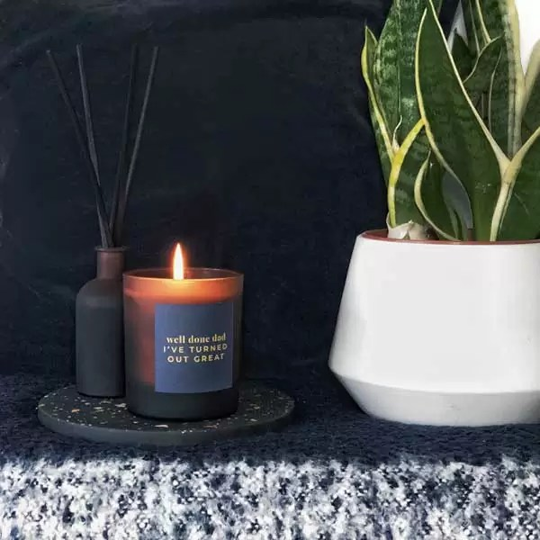 WELL DONE DAD | personalised candle