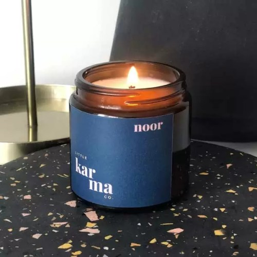 Noor mini scented candle handcrafted with pure essential oils