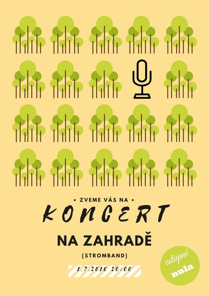 Plakát ke konání koncertu