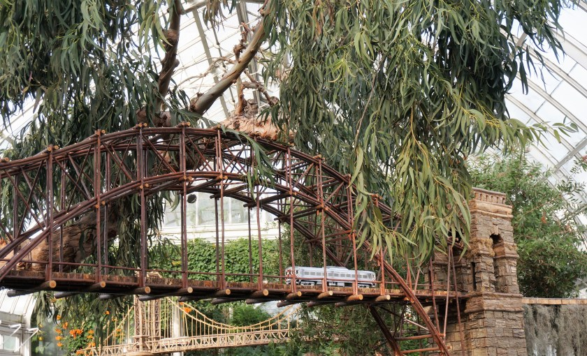 One of the bridges at the New York Botanical Garden Train Show