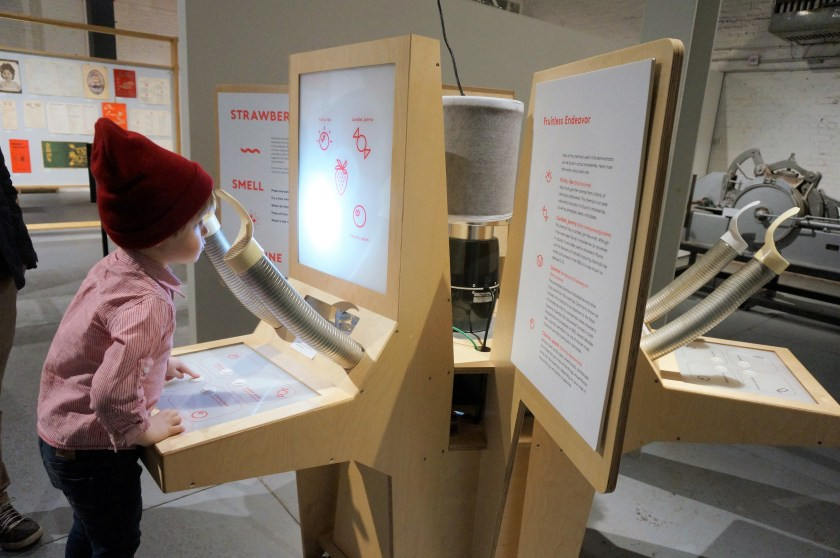Sniffing different scents at MOFAD Museum