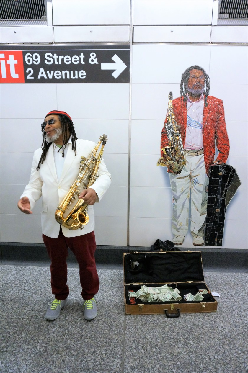Jazz Musician George Braith at the Second Ave Subway Opening