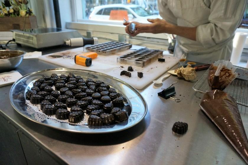 Bon Bon making demonstration at Choco-Story New York