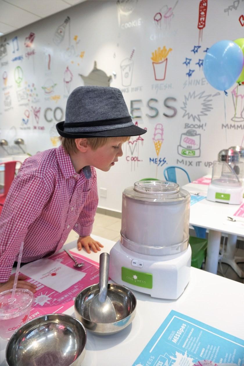 Ice Cream machine fun at CoolMess in NYC