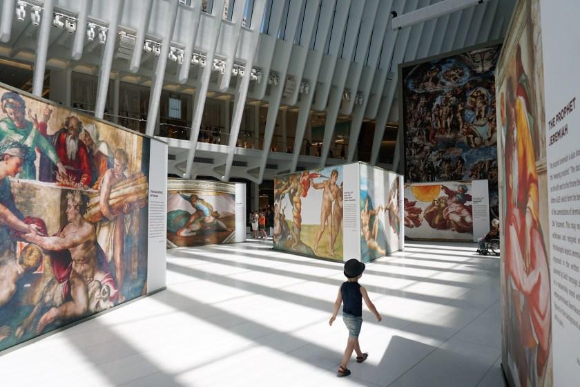 Walking through the new exhibit, Up Close: Michelangelo's Sistine Chapel
