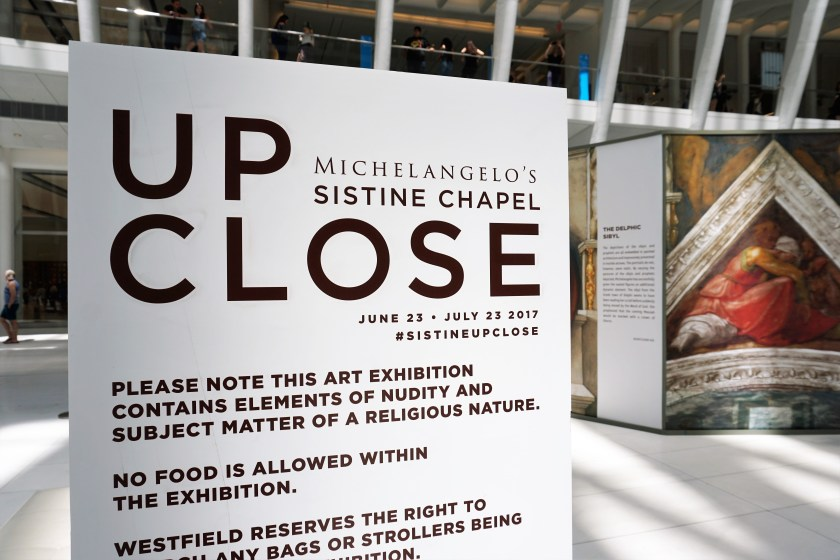 Up Close: Michelangelo's Sistine Chapel is now on view at Westfield World Trade Center