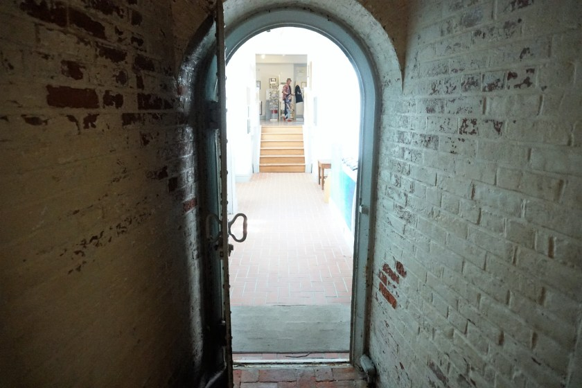 Arched doorways at the Absecon Lighthouse in Atlantic City, NJ