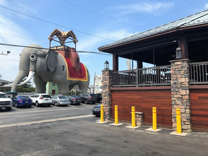 pulling up to Lucy the Elephant