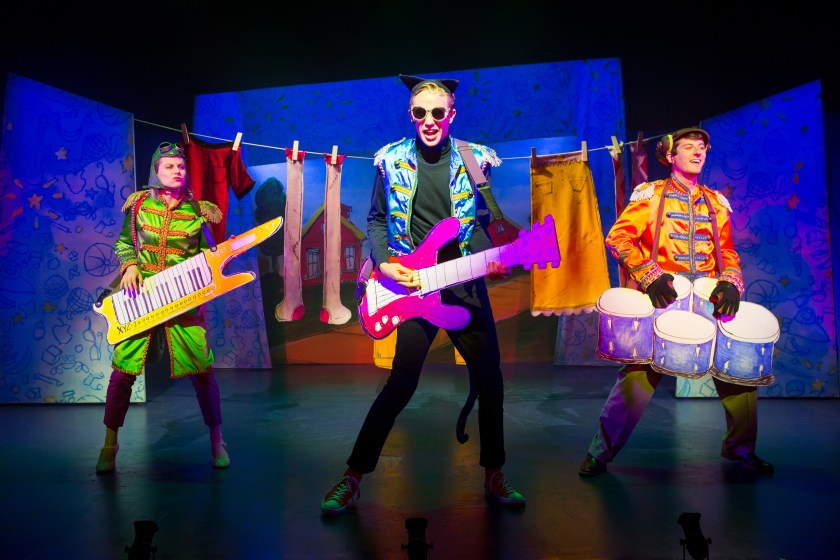 Rocking on stage with Pete the Cat the musical
