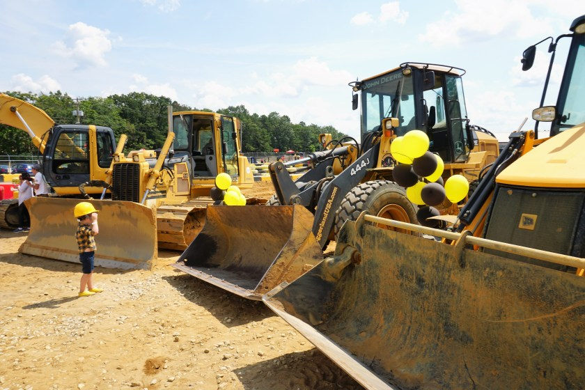 Getting up close and personal with construction vehicles at Diggerland USA