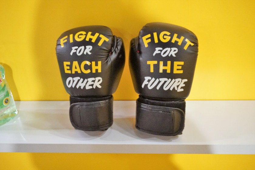 29Rooms - The Future is Female Boxing Gloves
