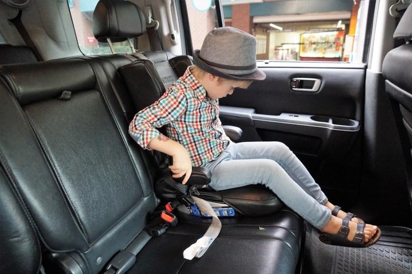 Buckling into a Lyft Car Seat