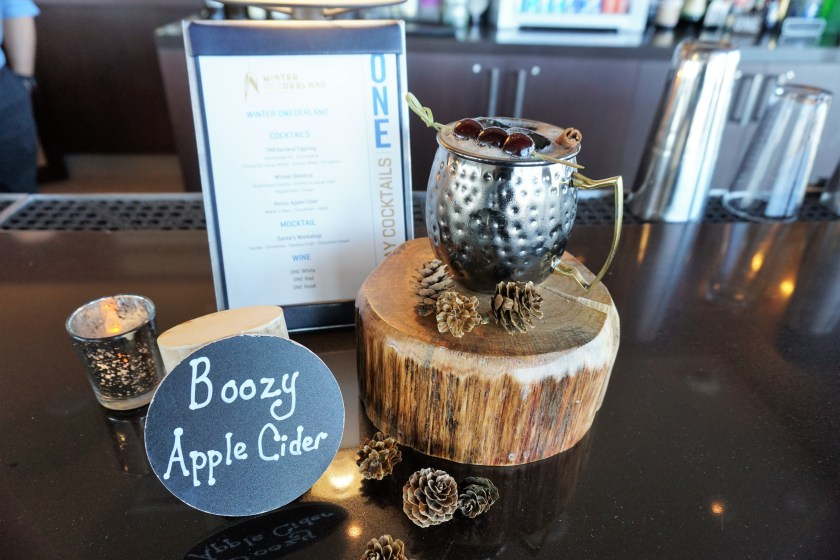Boozy Apple Cider available at One World Obervatory