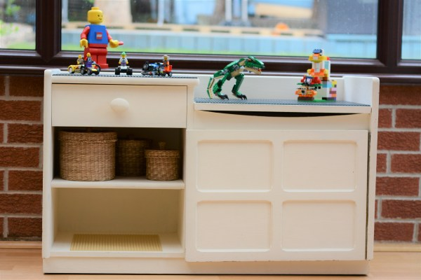 DIY Upcycled Lego Table Lego storage