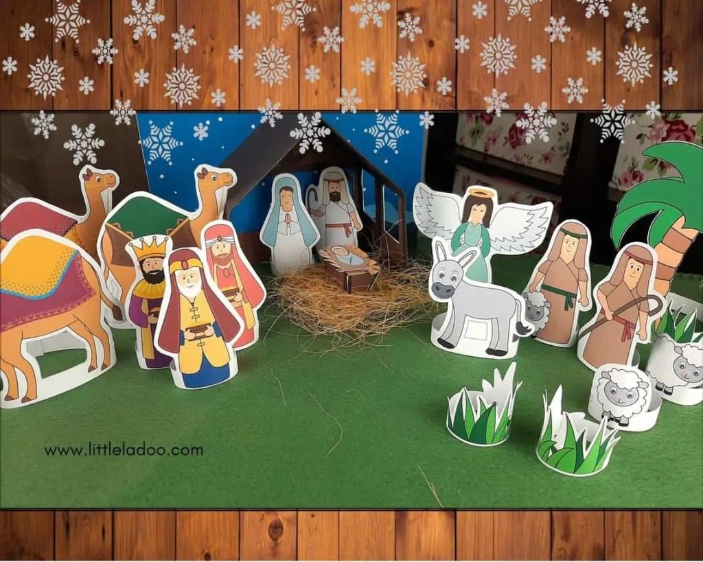 Paper nativity set Diy