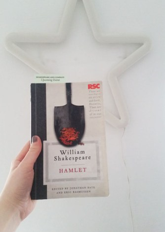 My copy of Hamlet that I got from Shakespeare and Co in Paris!