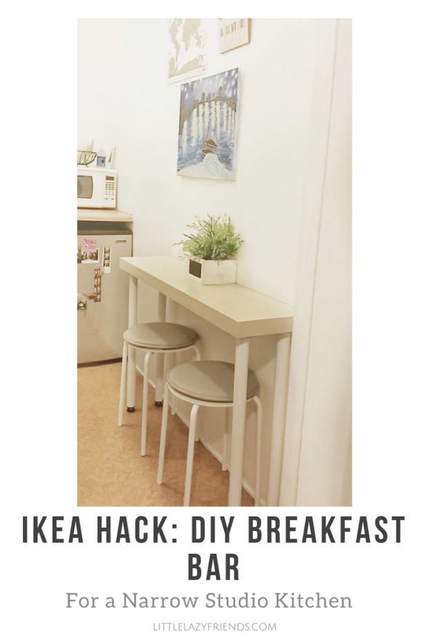 Ikea Hack Diy Breakfast Bar For A Narrow Studio Kitchen