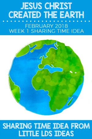 February 2018 Week 1 Sharing Time Idea