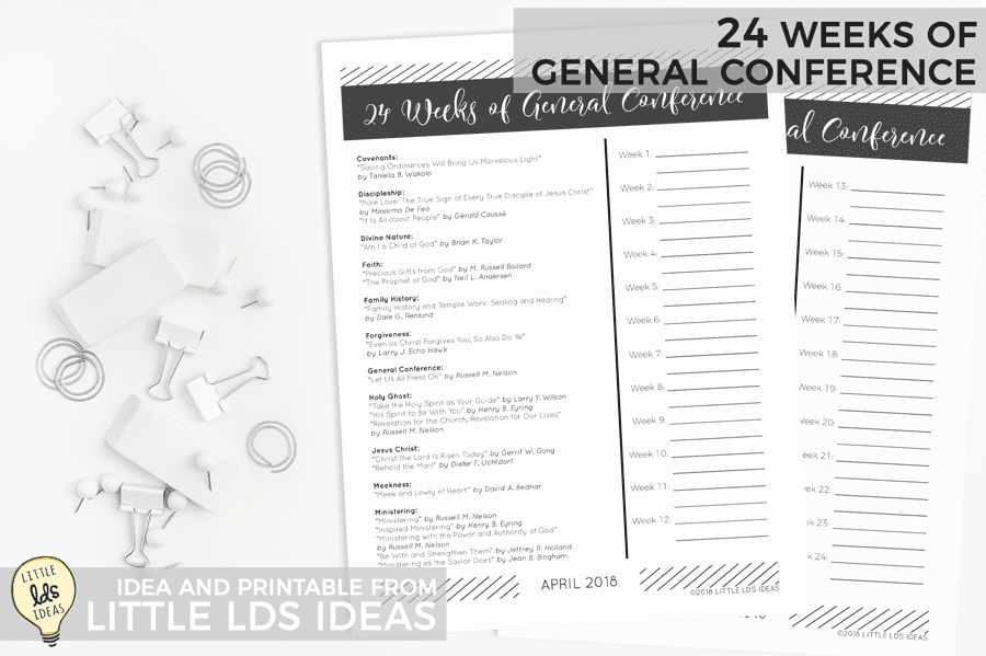 24 Weeks of General Conference Study Guide