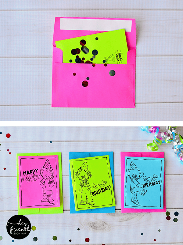 birthday card printable bw