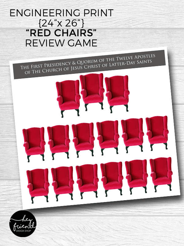 """LDS """"Red Chair"""" General Conference Review Game"""