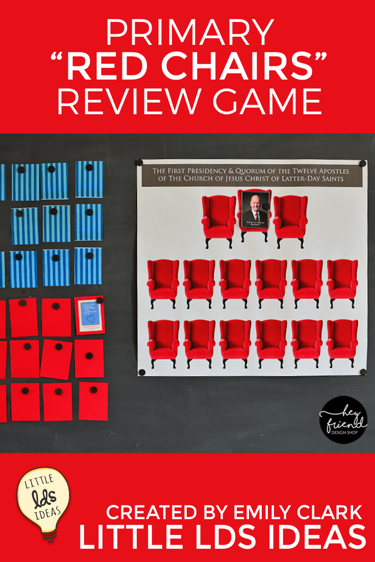 """Red Chair"" General Conference Review Game Activity"