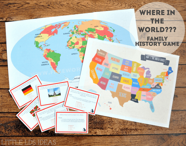 Where in the World Family History Game