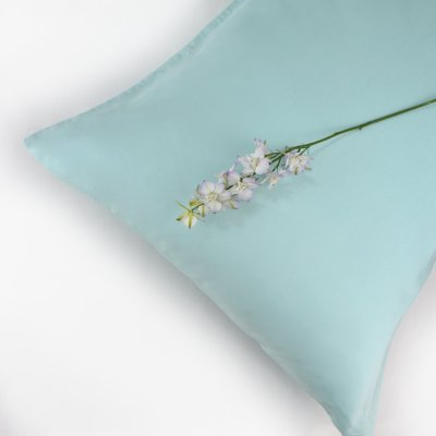 100% Organic Cotton Pillowcase Standard Style in an Aquamarine Colour