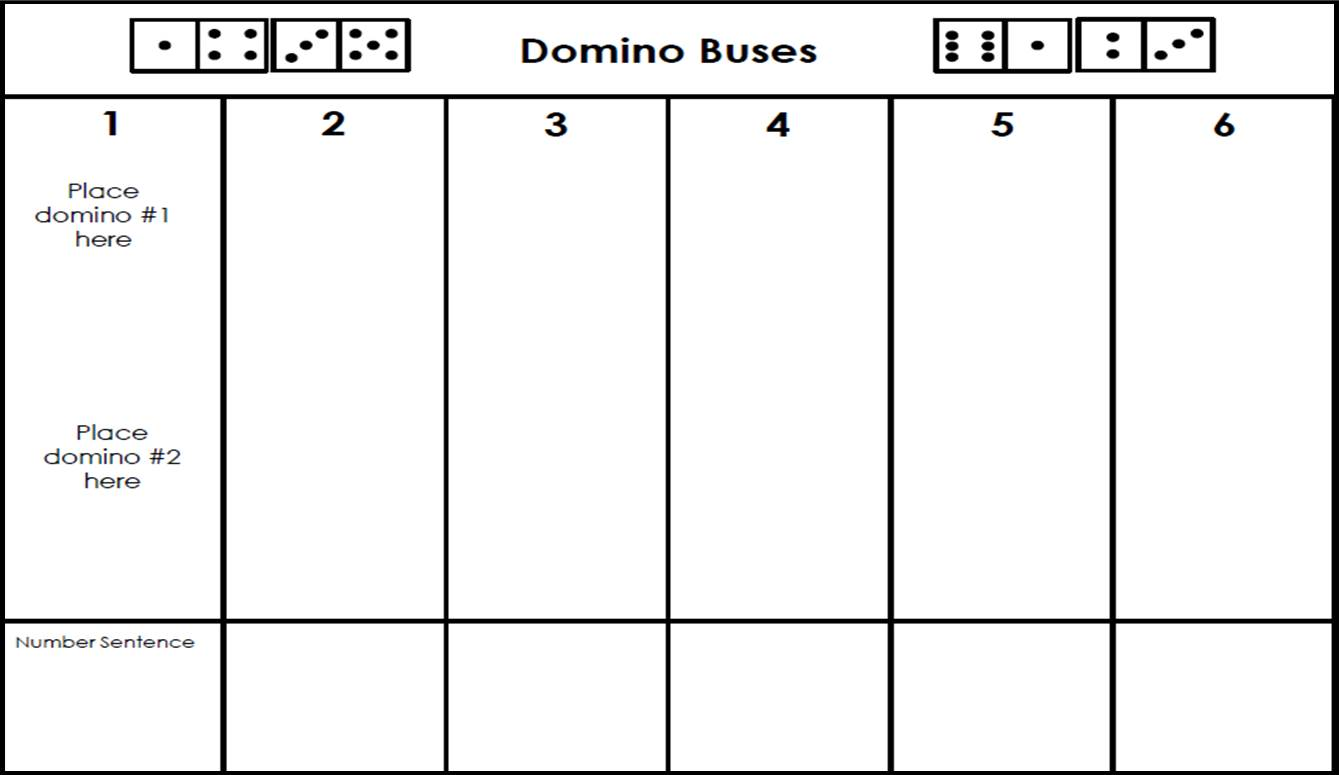Domino Buses Beep Beep Little Learner Toolbox