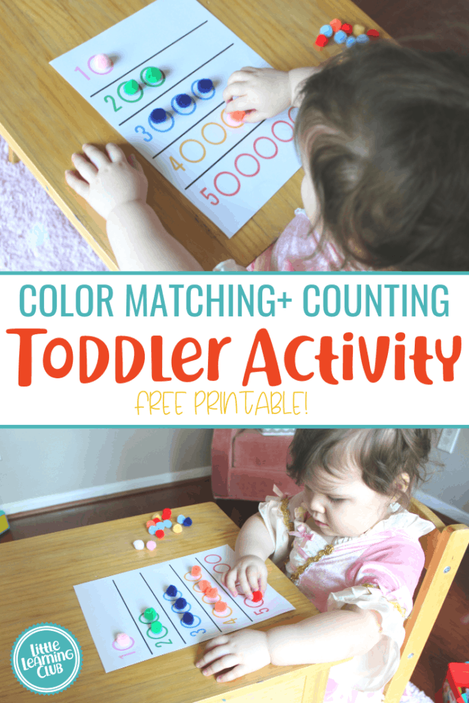graphic regarding Toddler Learning Activities Printable Free identify Shade Matching + Counting Video game (Printable Involved